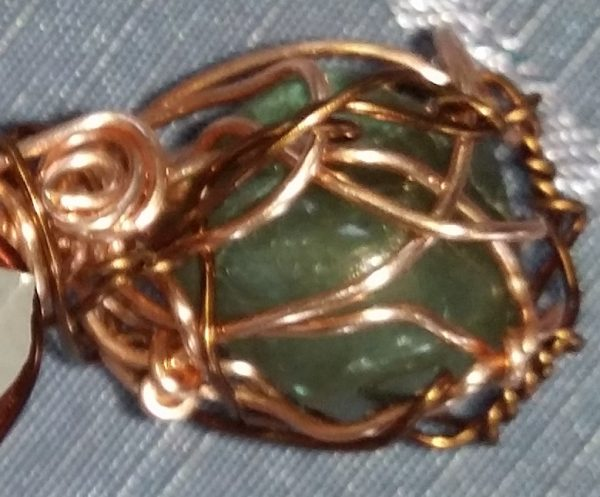 copper 99 pure gemstone pendant