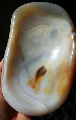 agate chalcedony quartz polished gemstone bowl