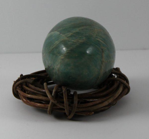 Amazonite gemstone egg hand made ethical source