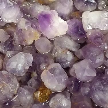 amethyst raw crystals tiny crystal grid elixir ethically sourced
