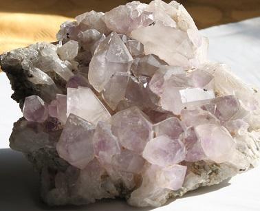 lilac amethyst quartz sceptre cluster ethical source