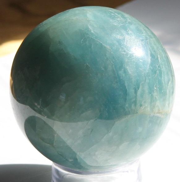 Aquamarine Gemstone Sphere Large