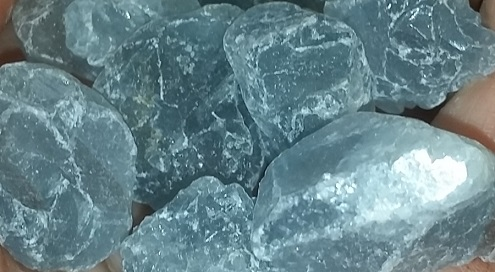 celestite raw crystals ethical source