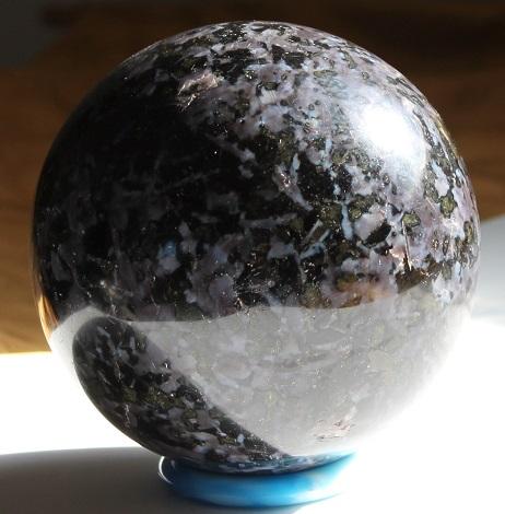 Indigo gabbro sphere ethically sourced