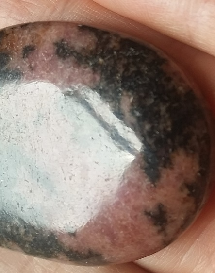 Rhodonite large cabochon ethically sourced