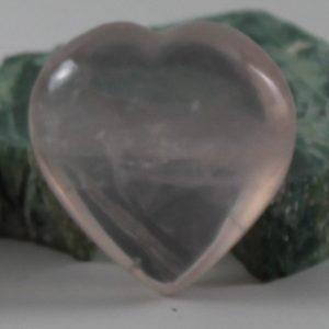 light pink rose quartz heart ethically sourced