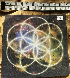 Cloth Seed of Life Grid Mat