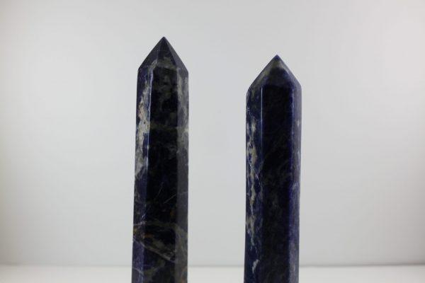 sodalite polished points gemstone wand ethical source
