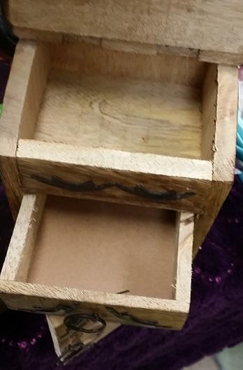 Tree of life wooden altar box almirah