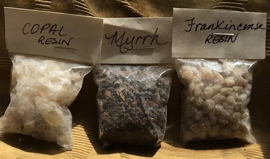 three resin incense pack