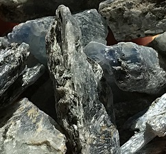 Blue kyanite rough ethically sourced